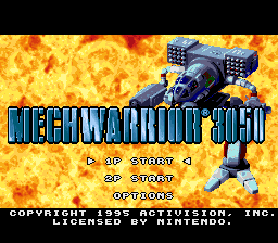 Mechwarrior 3050 (Europe) Title Screen