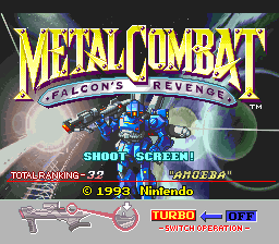 Metal Combat - Falcon's Revenge (Europe) Title Screen