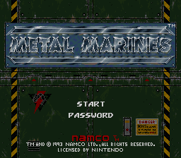 Metal Marines (Europe) Title Screen