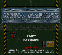 Metal Marines (USA) Title Screen
