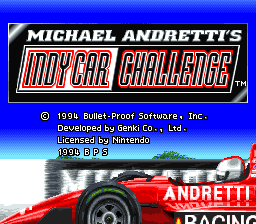 Michael Andretti's IndyCar Challenge (Japan) Title Screen
