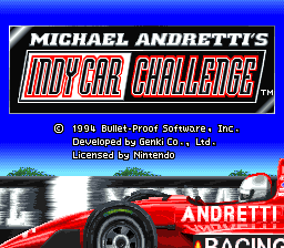 Michael Andretti's IndyCar Challenge (USA) Title Screen