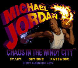 Michael Jordan - Chaos in the Windy City (Europe) Title Screen