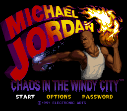 Michael Jordan - Chaos in the Windy City (USA) Title Screen