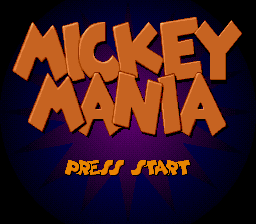 Mickey Mania - The Timeless Adventures of Mickey Mouse (USA) Title Screen