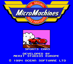 Micro Machines (Europe) Title Screen