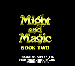 Might and Magic - Book Two (Japan) Title Screen