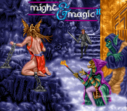 Might and Magic II - Gates to Another World (Europe) Title Screen