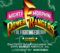 Mighty Morphin Power Rangers - The Fighting Edition (Europe) Title Screen