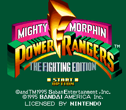 Mighty Morphin Power Rangers - The Fighting Edition (USA) Title Screen