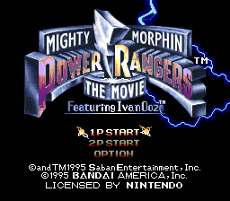 Mighty Morphin Power Rangers - The Movie (Europe) Title Screen