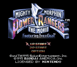 Mighty Morphin Power Rangers - The Movie (USA) Title Screen