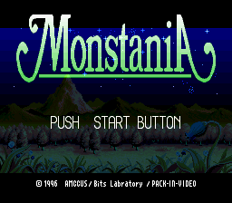Monstania (Japan) Title Screen