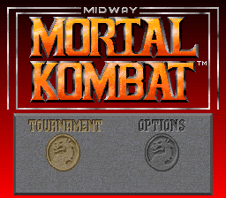 Mortal Kombat (Europe) Title Screen