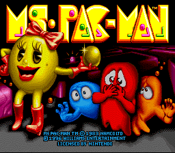 Ms. Pac-Man (Europe) Title Screen