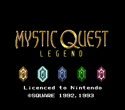 Mystic Quest Legend (France) Title Screen