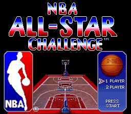 NBA All-Star Challenge (Japan) Title Screen