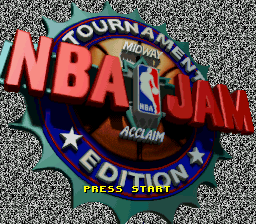 NBA Jam - Tournament Edition (Europe) Title Screen