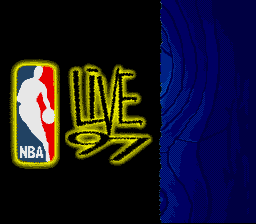 NBA Live '97 (Europe) Title Screen