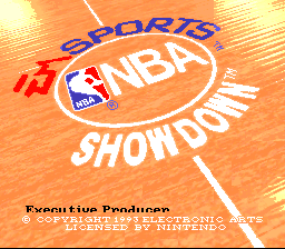 NBA Showdown (USA) (Beta) Title Screen