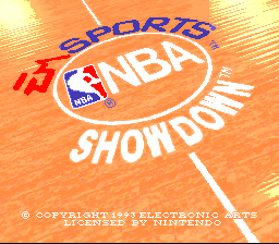 NBA Showdown (USA) Title Screen