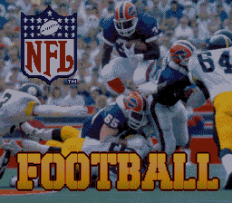 NFL Football (Europe) Title Screen