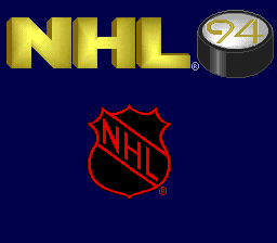 NHL '94 (Europe) Title Screen