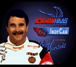Newman-Haas IndyCar Racing featuring Nigel Mansell (Europe) Title Screen