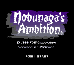 Nobunaga's Ambition (USA) Title Screen