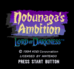 Nobunaga's Ambition - Lord of Darkness (USA) Title Screen