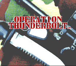 Operation Thunderbolt (USA) Title Screen
