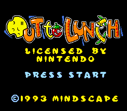 Out to Lunch (USA) Title Screen