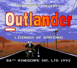 Outlander (USA) Title Screen