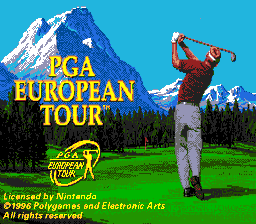 PGA European Tour (USA) Title Screen