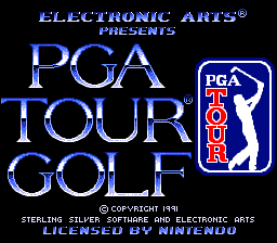 PGA Tour Golf (Europe) Title Screen