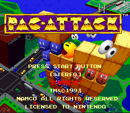 Pac-Attack (Europe) Title Screen