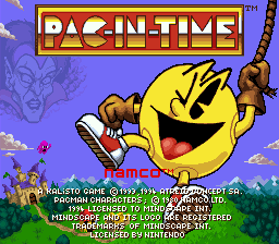 Pac-in-Time (Europe) Title Screen