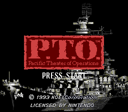 Pacific Theater of Operations (USA) Title Screen