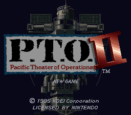 Pacific Theater of Operations II (USA) Title Screen