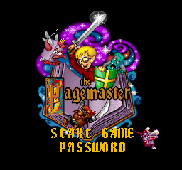 Pagemaster, The (Europe) Title Screen