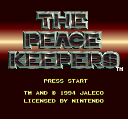 Peace Keepers, The (USA) Title Screen