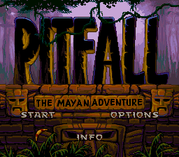 Pitfall - The Mayan Adventure (Europe) Title Screen