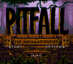 Pitfall - The Mayan Adventure (USA) Title Screen