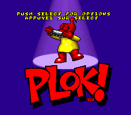 Plok! (France) (En,Fr) Title Screen