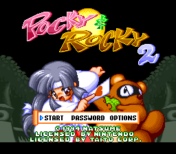 Pocky & Rocky 2 (USA) Title Screen