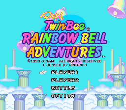Pop'n TwinBee - Rainbow Bell Adventures (Europe) Title Screen