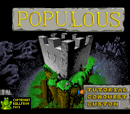 Populous (USA) Title Screen