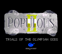 Populous II - Trials of the Olympian Gods (Europe) Title Screen