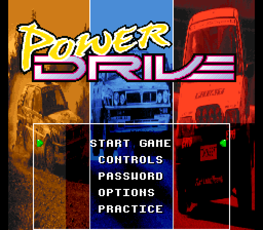 Power Drive (Europe) (En,Fr,De,Es,Pt) Title Screen