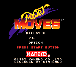 Power Moves (USA) Title Screen